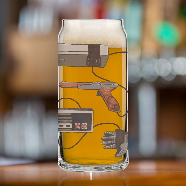 8-Bit Relics Tall Boy Can Glass
