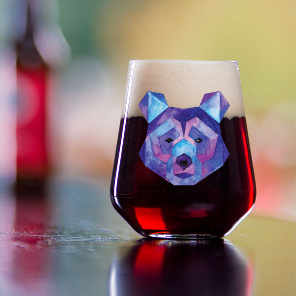 Spirit Animal Kodiak Stemless Wine Glass