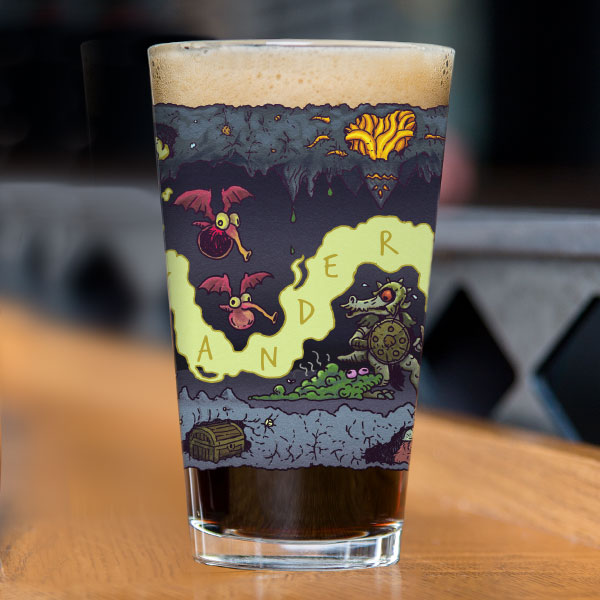 Wandering Monsters Pint Glass