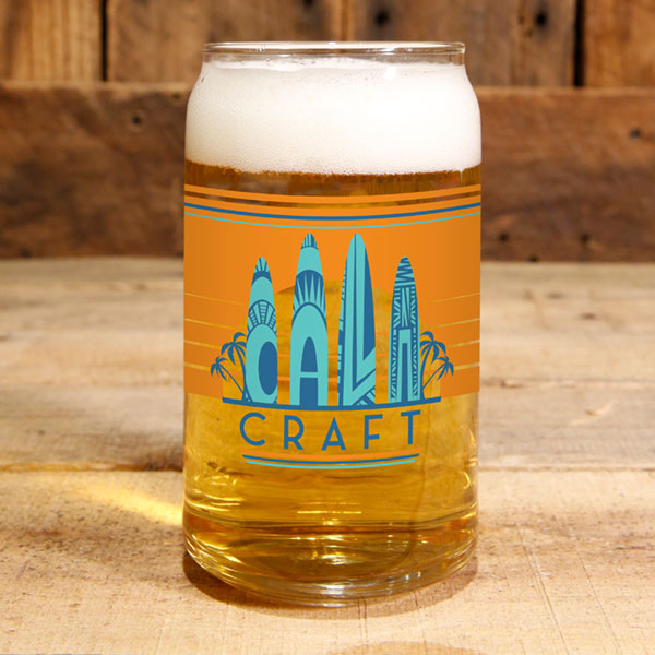 16 oz. Cali Craft Can Glass