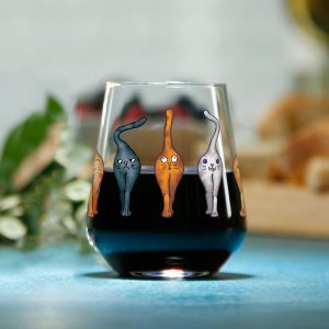 Catsholes Stemless Wine Glass