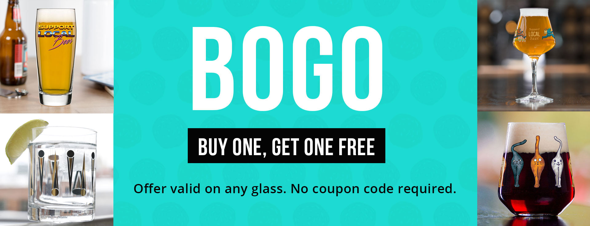 Buy One Get One Free Glassware