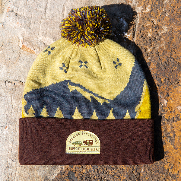 Brewing Excursions Pom Beanie